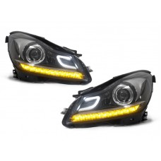 DEPO 2012-2014 MERCEDES BENZ W204 C CLASS C63 AMG STYLE PROJECTOR LED HEADLIGHT