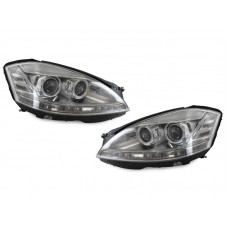 USA DOT 2010+ FACELIFT LOOK LED AFS XENON HEADLIGHT 07-09 MERCEDES W221 S CLASS