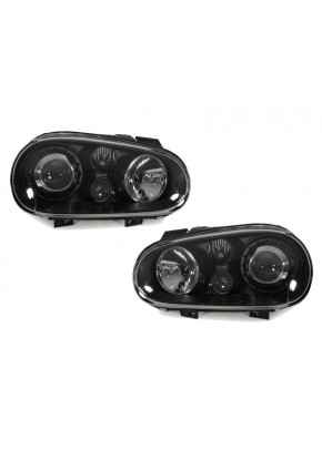 DEPO 99-04 VW Golf GTi Mk.IV 4 Black Glass Lens Headlight + Projector Fog Light
