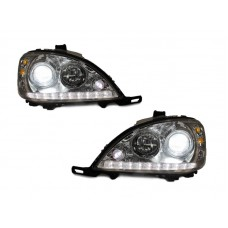 DEPO 02-05 Mercedes Benz W163 M Class LED Strip Hi/Low Bi-Xenon Projector Headlight