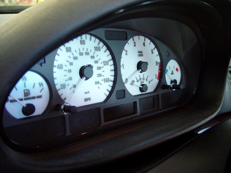 Details about White Gauge Face Overlay For 1999-2005 BMW E46 3 Series 4D  Sedan / 5D Wagon