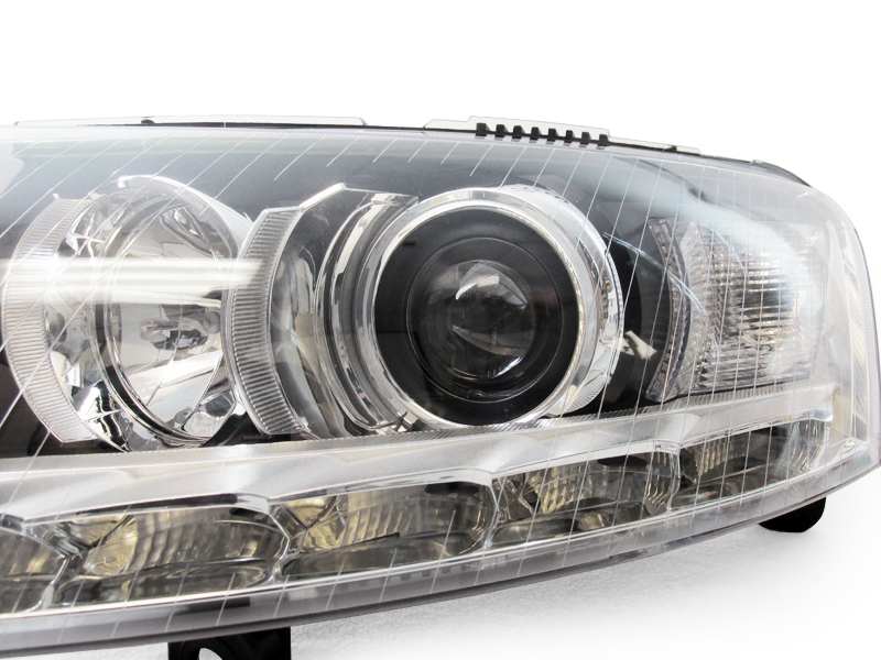 Depo Facelift Led Strip Hid Headlight For 2005 08 Audi A6 C6 Bi Xenon D2s Model Ebay