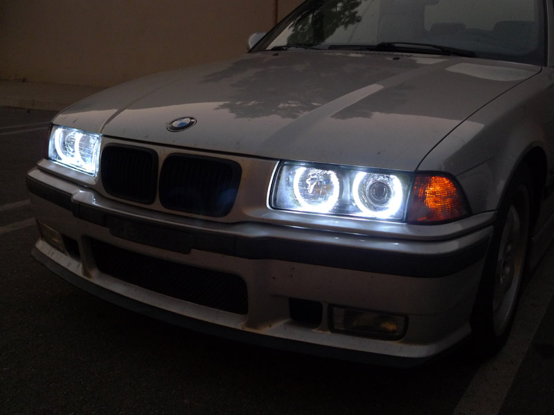 Depo Bmw E36 Uhp Led Halo Angel Eyes Hid Xenon Euro Zkw