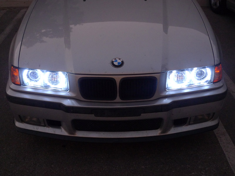 Depo M3 Uhp Led Halo Angel Eye Xenon Hid Euro Hella Glass Headlight