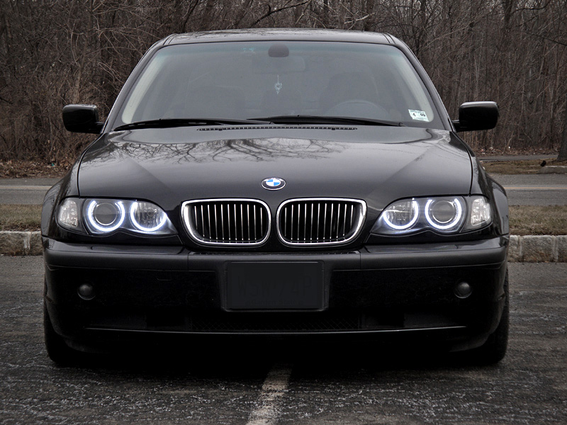 depo uhp led angel eyes projector headlight for 99-01 bmw e46 4d