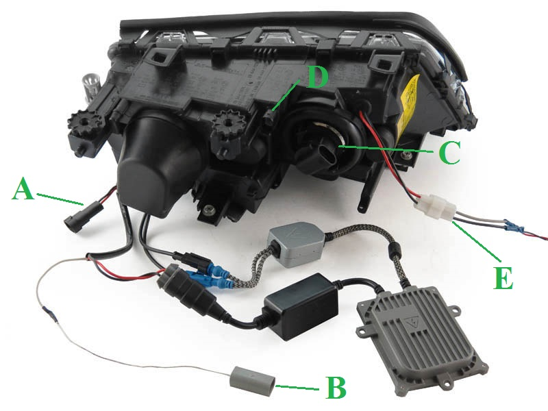 HL_B3_E46_D2S_BI_WIRING oem bi xenon d2s replacement 02 05 bmw e46 4d 5d uhp led angel hid bmw e46 fog light wiring diagram at crackthecode.co