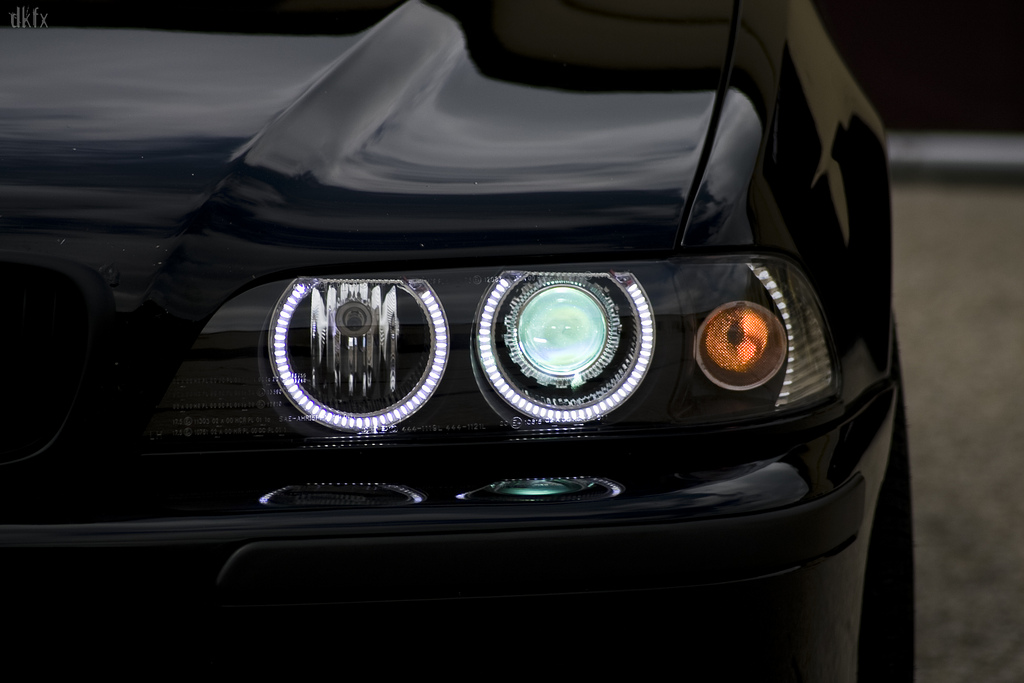 Depo Uhp Led Angel Headlight Xenon Hid For 97 00 Bmw E39