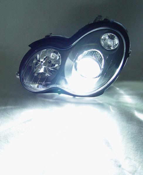 Mercedes CLK C208 H7 H7 H1 H6W 55w ICE Blue Xenon High//Low//Fog//Side Light Bulbs