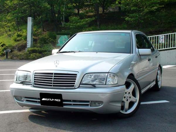 Details about AMG-Style Black Grill w/ Chrome Trim For 1994-2000 Mercedes  Benz W202 C Class