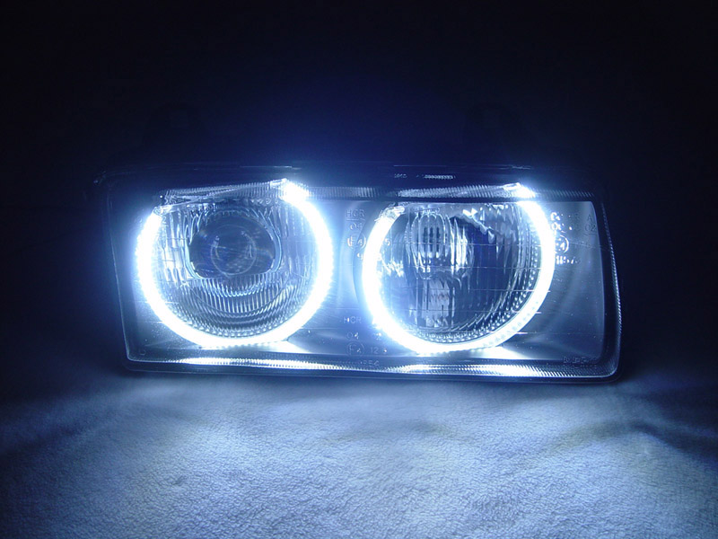 DEPO UHP LED Angel Eyes Euro ZKW Projector Glass Headlight For BMW ...