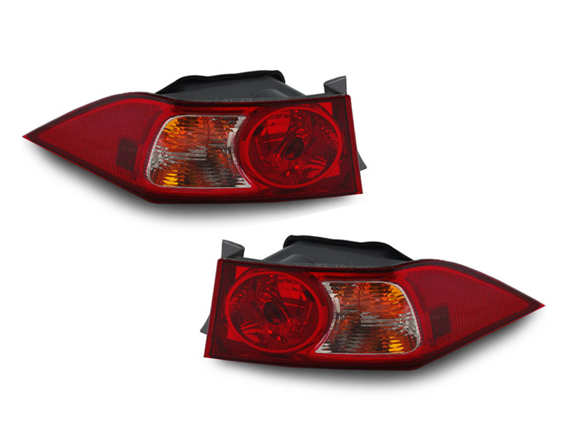 Jdm Red Clear Outer Left Right Euro Tail Lights For 2004
