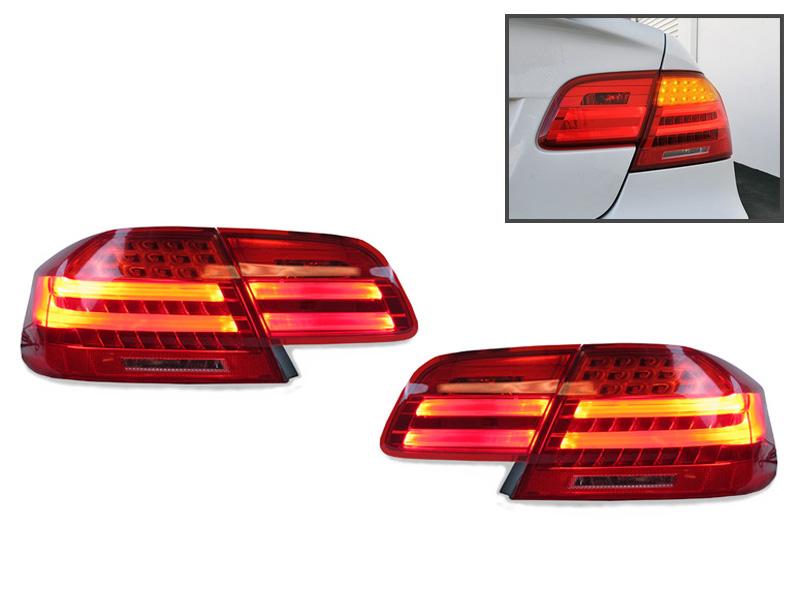 Depo Lci M3 Amber Led Signal Rear 4pcs Tail Light For 2007